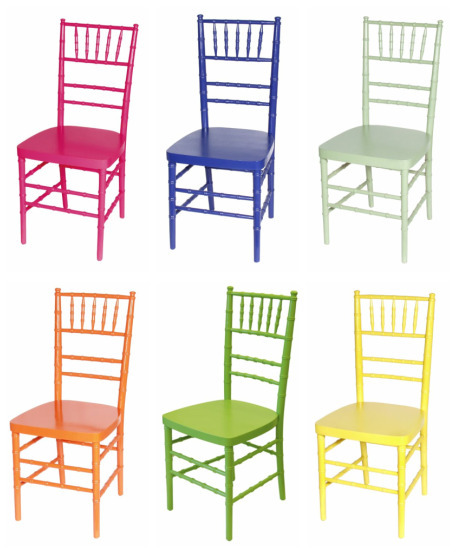 Budget kahwin khronicles for Different color chairs